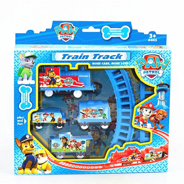 Fun PAW PATROL Figures Doll Electric Train Track Kids Children Baby Boy Girl Toy