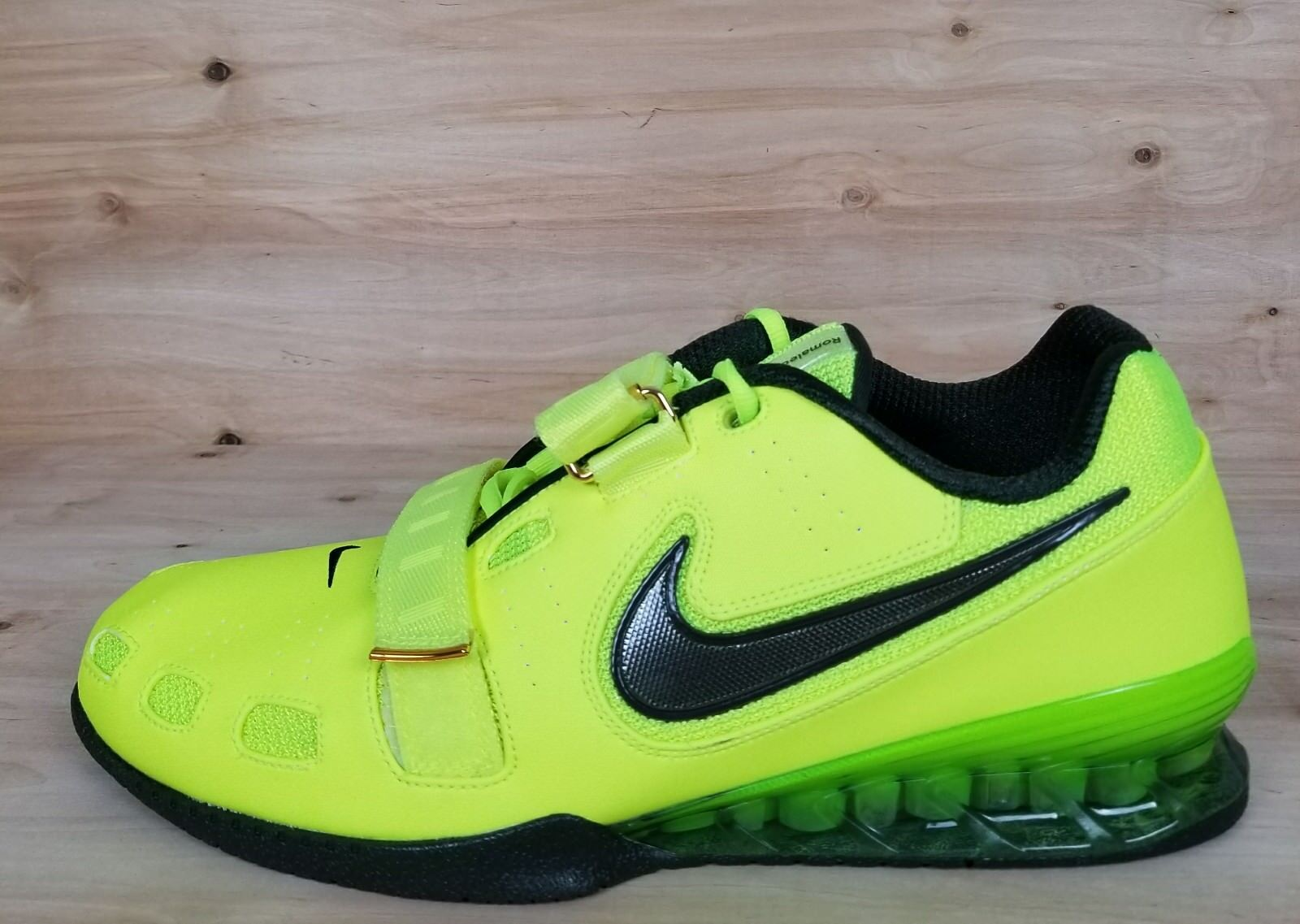 NIKE ROMALEOS II 700] 2 WEIGHTLIFTING SHOES [476927 700] II VOLT/BLACK MEN'S SZ: 991b0e