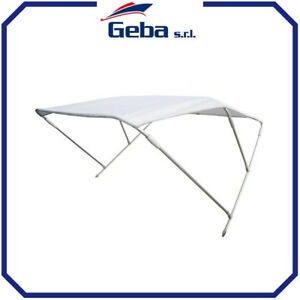 Tenda Nautica para sole Tendalino 2 archi Light 130//140 blu Capottina barca