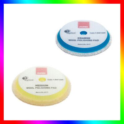 RUPES 2 x Polishing Pad Fine Polishing Sponge Polishing Pad Yellow Soft 150-180 mm