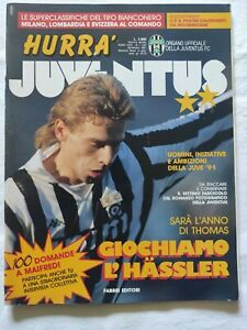 HURRA-039-JUVENTUS-N-1-1991-THOMAS-HASSLER-MAIFREDI-FASCICOLO-NO-POSTER