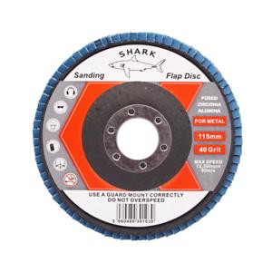 FLAP-GRINDING-SANDING-DISCS-115mm-40-60-80-120-Grit-Angle-Wheel-ZIRCON-by-SHARK