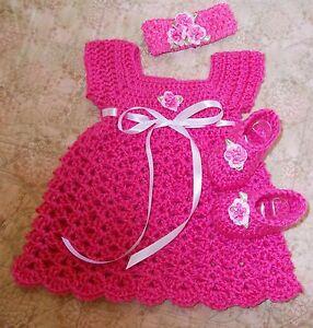 Handmade Crochet Baby Dress Preemie Newborn By Rocky Mountain