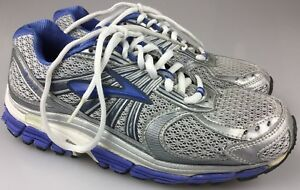 Size 8 Running Shoes Silver/Blue