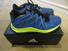 6dce21c9fd31 Adidas Originals Kids  Vigor Bounce Running Shoes Blue Grey Lab Yellow Sz6  Youth
