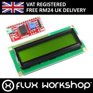 16x2-gruen-LCD-mit-Funduino-i2c-Interface-mb-063-1602-hd44780-Flux-Werkstatt