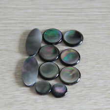 1set=9pcsSaxophone real mother of pearl key buttons inlays sax part Black shell