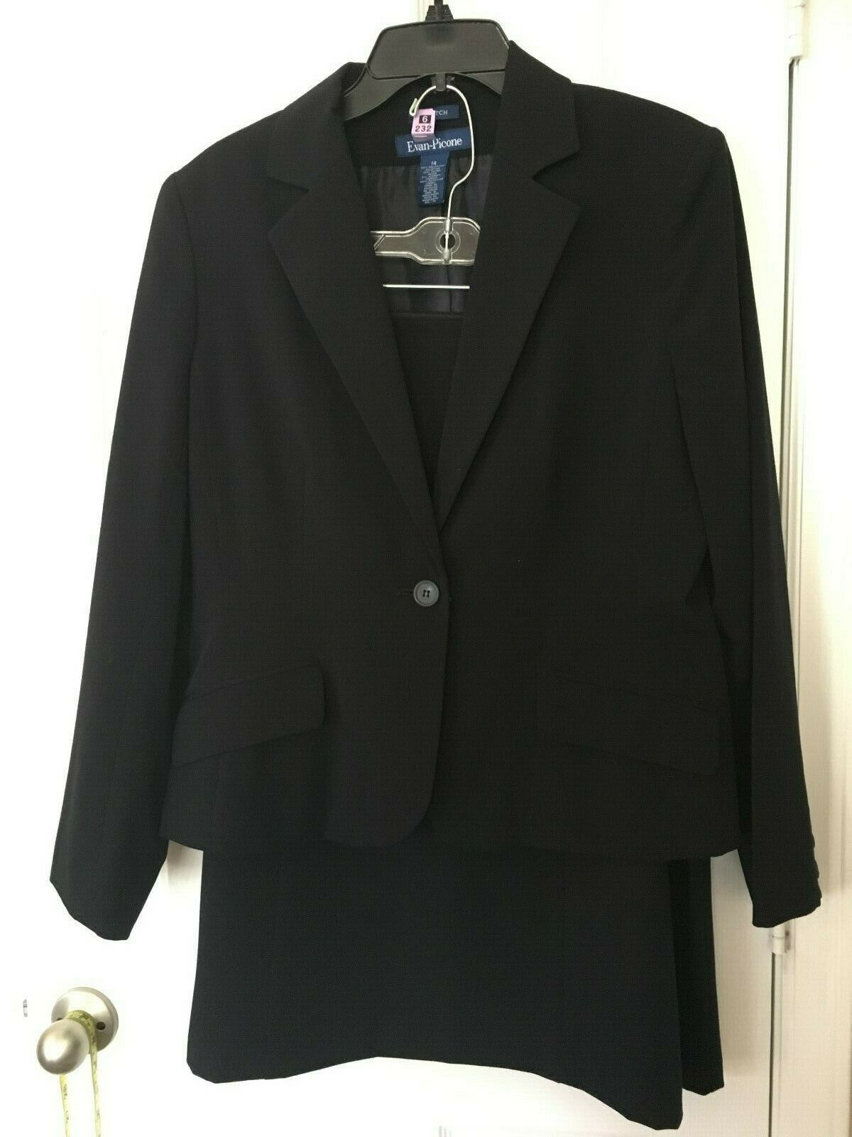 Womans Evan Picone bluee Skirt Suit - Size 14