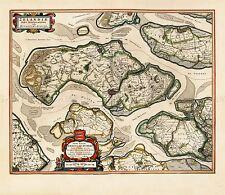 MAP ANTIQUE BLAEU SCHOUWEN DUIVELAND ISLAND LARGE REPLICA POSTER PRINT PAM0582