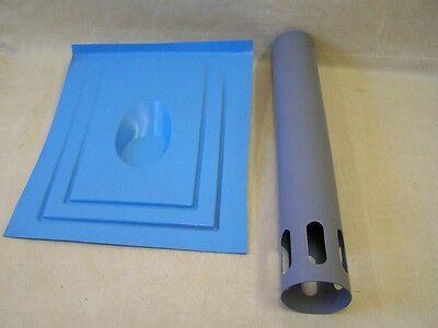 Unbenutzt Ddr Dachdurchführung Dunstrohr 80mm üBereinstimmung In Farbe Dachentlüftung