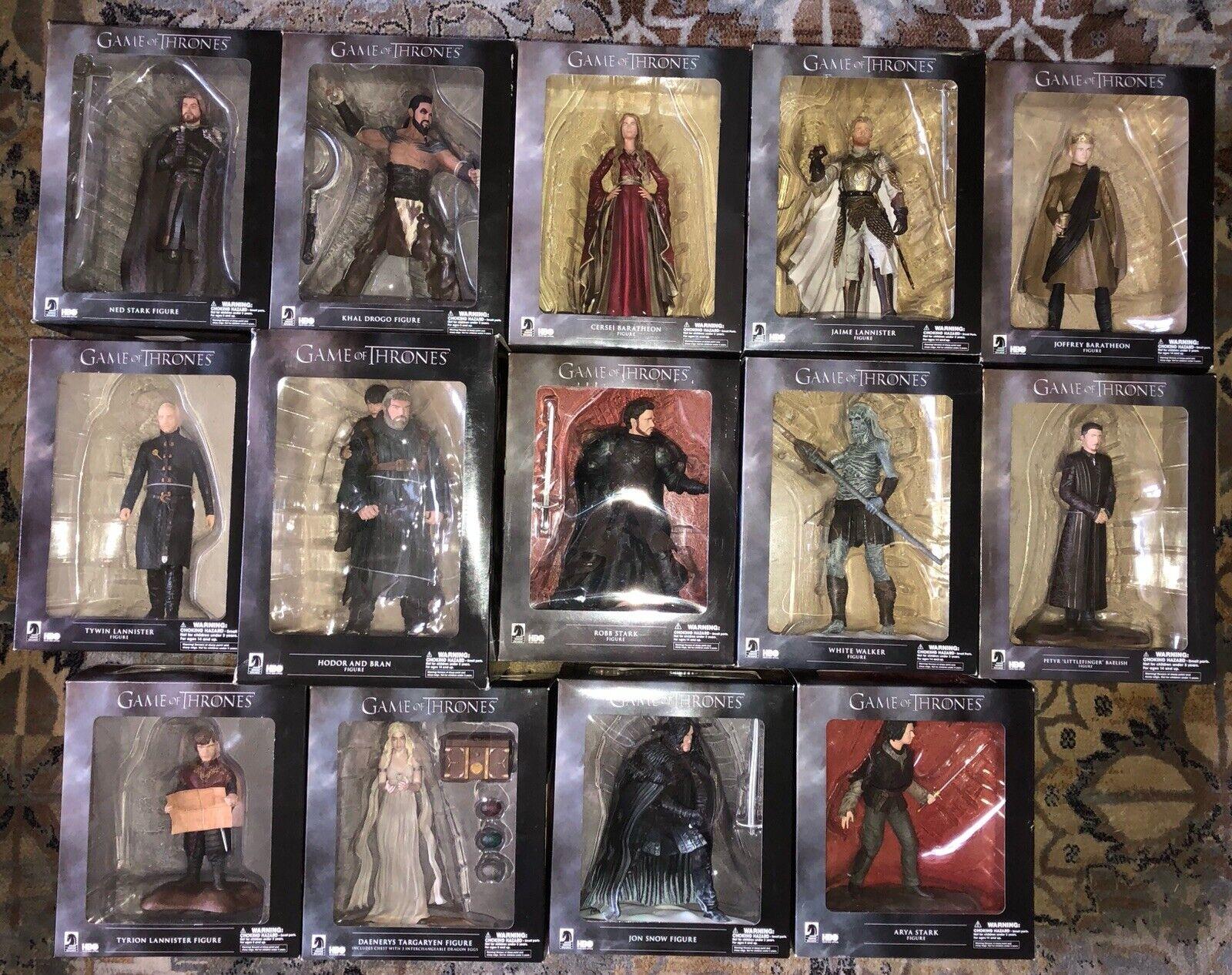 Lot Of 14 Dark Horse Game of Thrones Figure Statue Set Ned Cersie Jamie Drogo