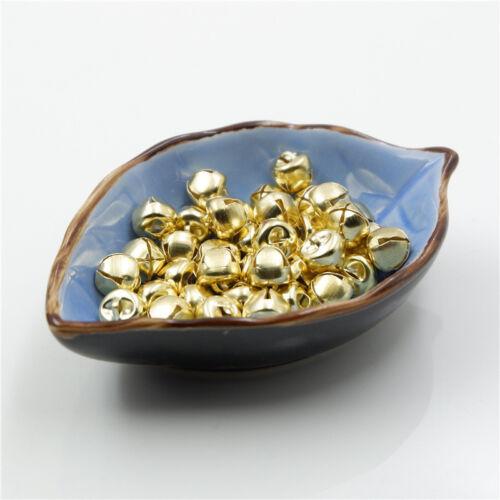 Gold Cross Jingle Bell Dangle Charm Pendant Jewelry Making DIY Pet Bell 10-30mm
