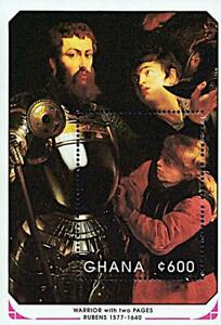 GHANA-1991-Rubens-Paintings-s-s-MNH-KNIGHTS-MILITARY