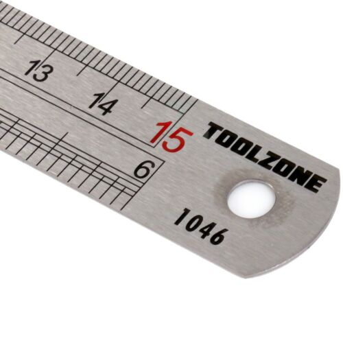 """Dual Marking HIGH QUALITY Metric Imperial Scale 6/"""" 15cm STAINLESS STEEL RULER"""