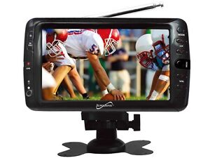"Supersonic SC-195 7"" LCD Portable Rechargeable ATSC Digital TV +Remote +AC/DC"