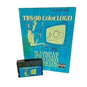 TRS-80-Color-Logo-cartridge-game-w-User-Manual-for-Tandy-Radio-Shack-TRS-80