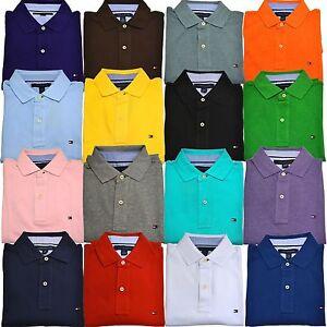 f1c0608389b81 Tommy Hilfiger Polo Shirt Mens Short Sleeve Classic Fit Mesh New Xs ...