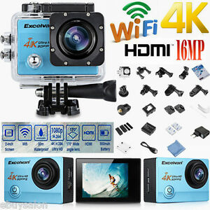 16MP 4K Ultra HD WiFi Sport Cam Action Camera Digital Video Recorder Waterproof
