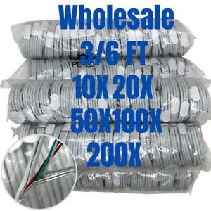 Wholesale Bulk USB Fast Charger Cable 3Ft 6Ft Cord Lot For iPhone 12 11 Pro XR 8