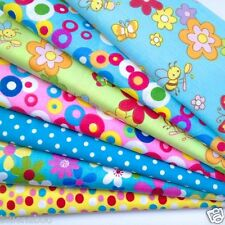 Bundle 7 fat quarters funky butterflies bees & florals 100 % cotton FREE P&P