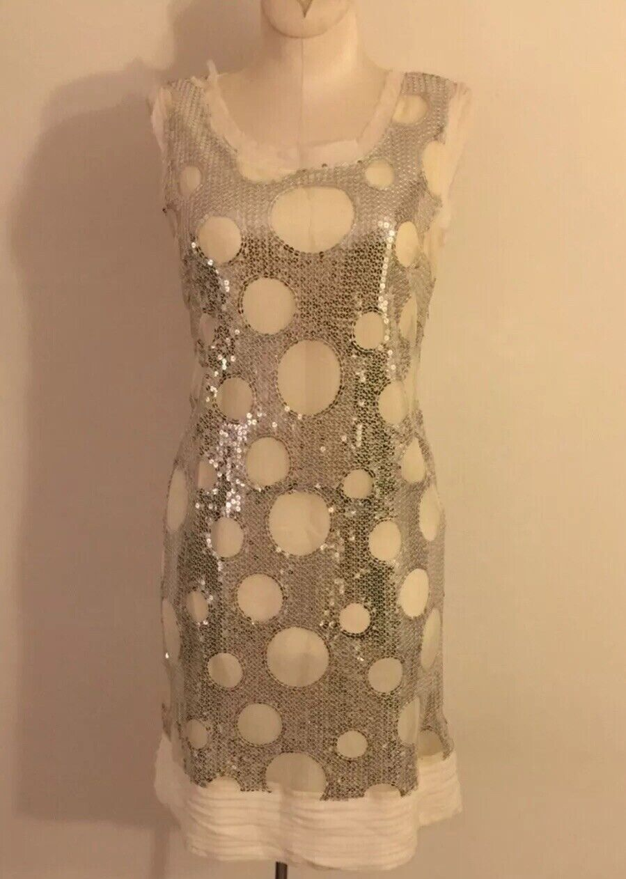 Bianco Levrin Sequined Coctail Dress Größe Euro44