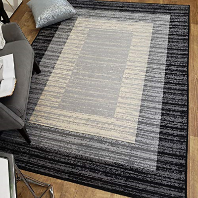 area rug 3x5 gray border stripe kitchen rugs and mats