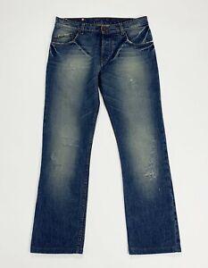 Brian-dales-jeans-uomo-usato-gamba-dritta-W32-tg-46-denim-boyfriend-blu-T5133