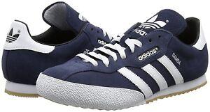 d9825ef3484c6 Chargement de l image en cours Homme-Adidas-Originals-Samba -Super-Baskets-en-daim-
