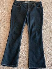 NWT Old Navy Infant Girls 12-18 Boot Cut Jeans STRETCH WAIST Dark Wash   #371817