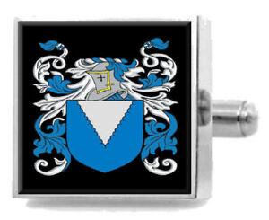 Geschickt Meders Wales Heraldik Wappen Sterling Silber Manschettenknöpfe Graviert Exquisite (In) Verarbeitung