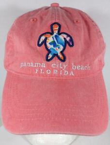 Panama-City-Beach-Florida-Hat-Pink-Sea-Turtle-Logo
