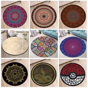 Das Bild Wird Geladen Teppich Mandala Blumen Rund Rug Yoga Matte Wohnzimmer
