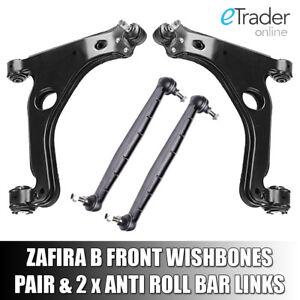 VAUXHALL-ZAFIRA-B-WISHBONES-ARMS-X2-INC-DROP-LINKS-Inc-OPEL-ARM-PAIR-FRONT