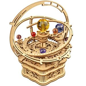 Rokr 3D Wooden Puzzle Starry Night Music Box Assembly Model Building Kits Toy