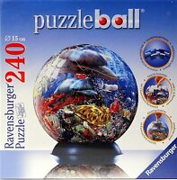 Ravensburger Puzzle - Puzzle Ball - 240 Pieces - 3d - 6 Inches - Sea Life