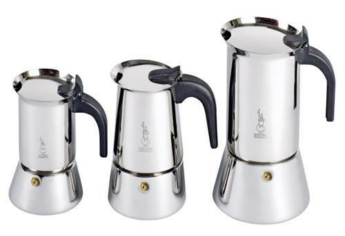 Stainless Steel Bialetti Venus Induction 4 Cup Espresso Coffee Maker