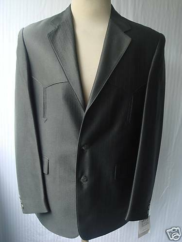 42L New  Herren Western Wear Sport Coat  Mineral Warp Knit