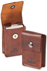 Woodland-Leder-Zigarettenhuelle-Zigarettenetui-Zigarettenbox-in-Braun