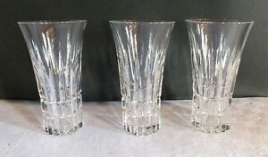 3 verres cristal taill saar crystal villeroy et boch ebay. Black Bedroom Furniture Sets. Home Design Ideas