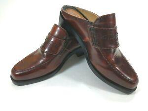 Ariat-mule-clog-slide-6-5-M-Excellent-Brown-leather-Cognac-90728