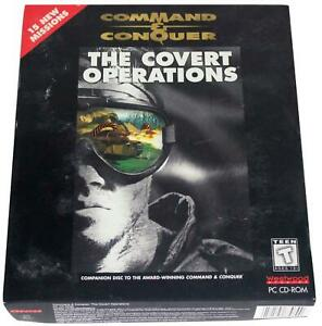 COMMAND-amp-CONQUER-Covert-Operations-90s-Big-Box-PC-GAME-CD-Rom-1996-Westwood-CIB