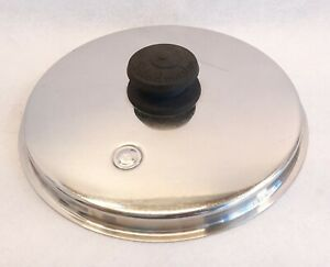 """VINTAGE STAINLESS STEEL SALADMASTER POT PAN REPLACEMENT PART LID W/ VENT 8.5"""""""
