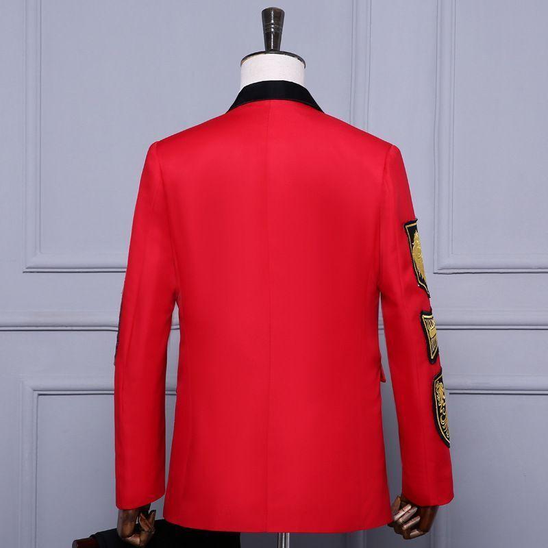 Traje chaqueta para hombre medalla militar suelto abrigo clásico en  la cintura de la etapa cantante trajes Nuevo  nuevo listado