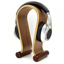 Wood Wooden Headphone Stand Holder Earphone Hanger Headset Display Rack