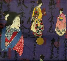 Kona Bay Geisha Collectables GEIS-05 Purple Oriental 100% Cotton Fat Quarter