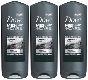 Dove Men Care Elements Body Wash Charcoal And Clay 13 5 Ounce Pack Of 3 Ebay