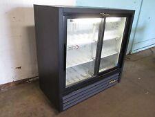 True Commercial Glass Door Refrigerated Low Profile Cold Beverage Merchandiser