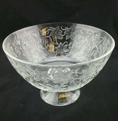 "Princess House Fantasia Footed Centerpiece Bowl 10""."