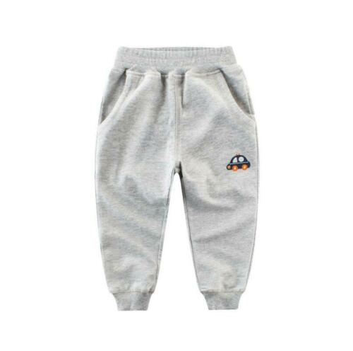 1-8 Yrs Kids Boys Toddler 100/% Cotton Sports Long Pants Close Up Pocket Trousers