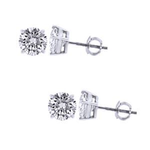 1-2ct-ROUND-SOLITAIRE-STUD-EARRING-SCREW-BACK-SOLID-14K-WHITE-GOLD